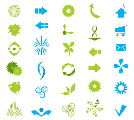 Vector Company Icons Set Illustration