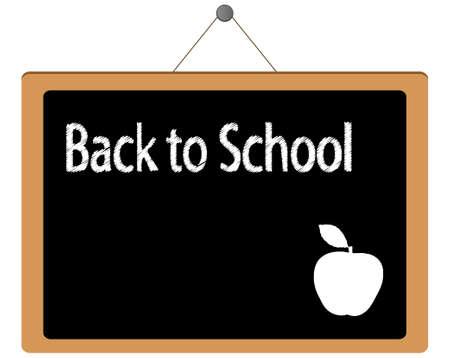 Back to School blackboard vector illustration Illustration