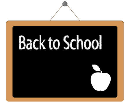 Back to School blackboard vector illustration Illustration