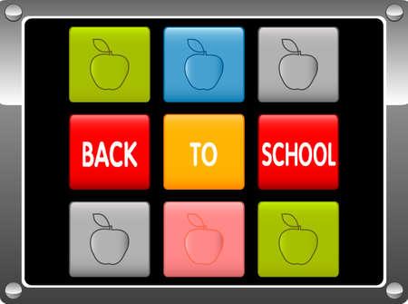 Back ot School vector illustration Vector