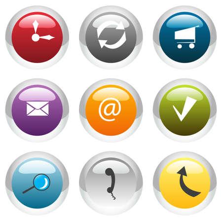 Vector e-Business Icon Set Vector