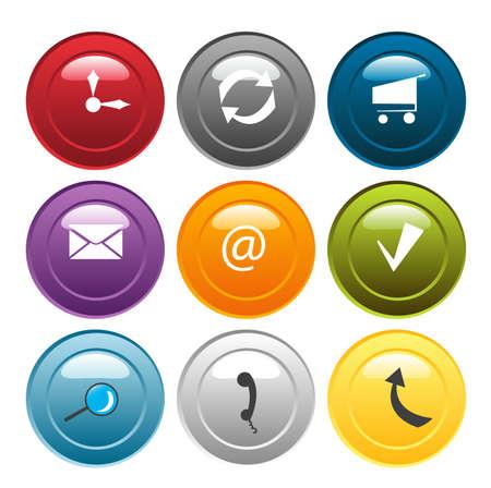 Vector e-Business Icon Set Stock Vector - 5291722