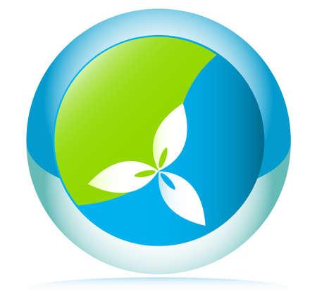 Vector Button Environment Conservation concept Vector