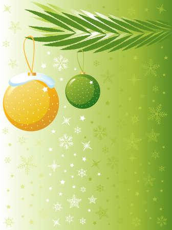 Christmas Tree Background Design Stock Vector - 5328296