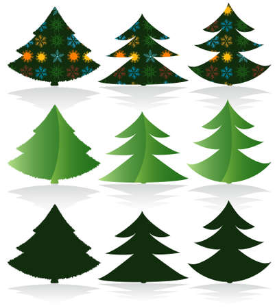 Christmas Trees Set Design Elements Stock Vector - 5659366