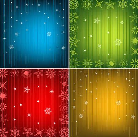 Beautiful Festive New Year Background Set Vector