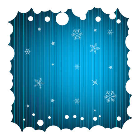 Festive Background with Snowy Frame Stock Photo