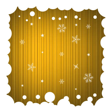 Festive Background with Snowy Frame Stock Photo - 5659368