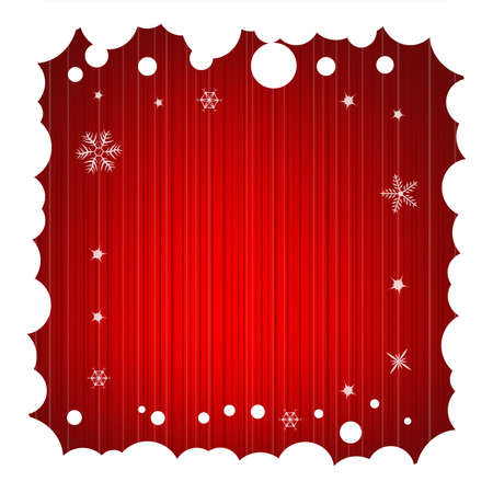 Festive Background with Snowy Frame Stock Photo - 5659367
