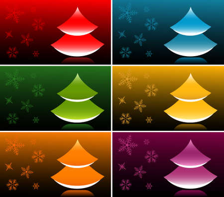 Vector Japanese Style New Year Tree Banners Stock Vector - 5689953