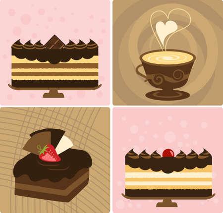 Koffie met Delicious Chocolate Cake