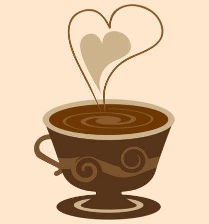 hot chocolate drink: Ilustraci�n de vector de Copa del caf� caliente