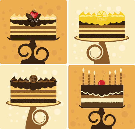 vanilla pudding: Ilustraci�n de pasteles de vacaciones