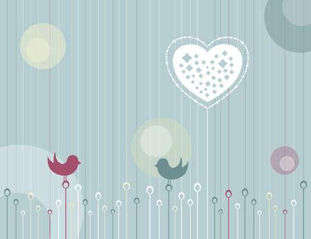 Whimsical Love Garden Illustration