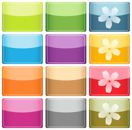 Glassy Colorful Icons and Buttons photo