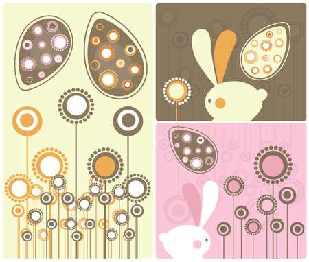 Easter Modern Twist Decor Element  Illustration Stock Photo