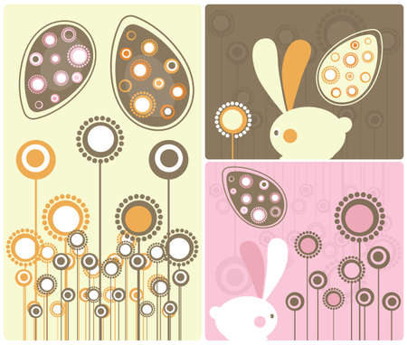 Easter Modern Twist Decor Element  Illustration Stock Photo