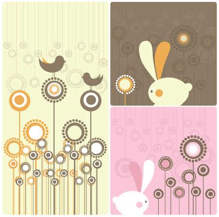 Easter Modern Twist Decor Element Illustration   illustration