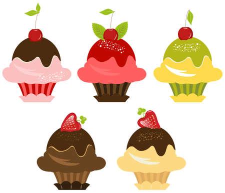 Delicious Cupcakes Set Stock Photo - 7022437