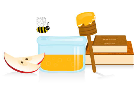 rosh: Apple and Honey Illustration