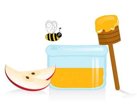 Apple and Honey Illustration