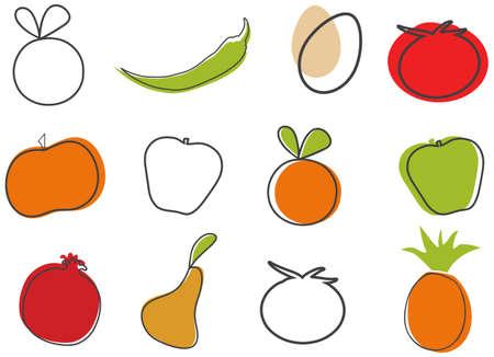 Creative Food Clip-Art  Vector