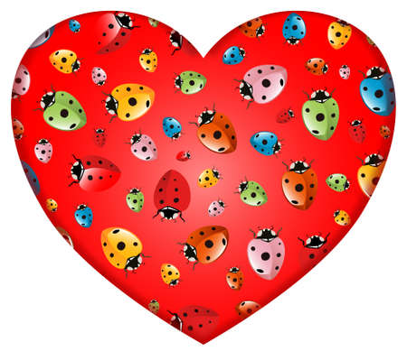 Heart with Ladybugs Ornament photo