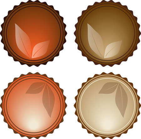 Vector Beautiful Nature Elements Glassy Icons eps10