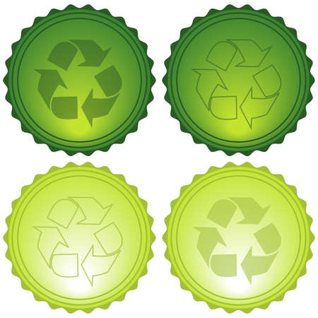 Vector Recycle Symbols Glassy Icons eps10