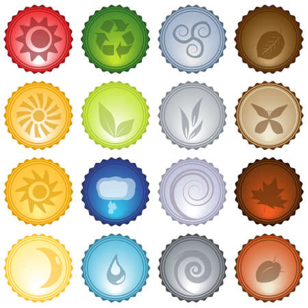 Beautiful Glassy Vector Icons Set eps10