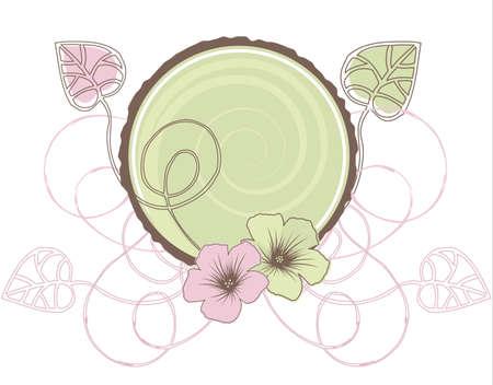 Vector Fancy Grunge Floral Design Element Vector