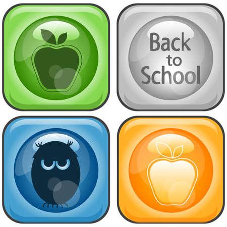 Back to School Icons Set Illustration