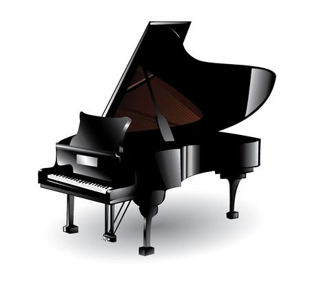 블랙 피아노 일러스트