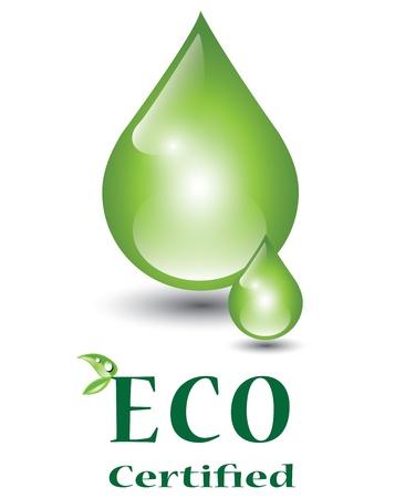 natural resource: Green drop, eco