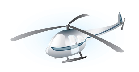 suspend: Grey helicopter