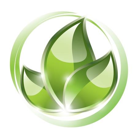 environmentally: Eco plant symbol