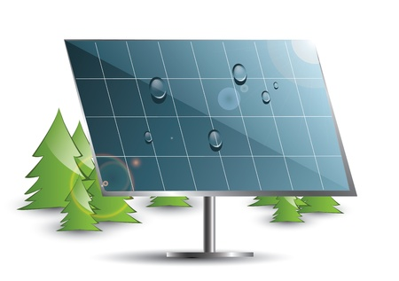 environmentally: Solar panel in the nature
