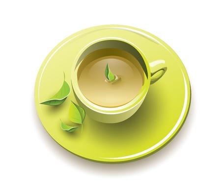녹색 잎 녹차