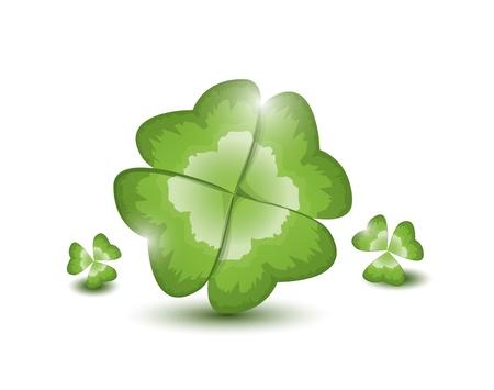 leafed: Four-leafed clover