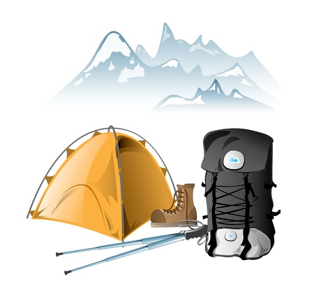 trekking pole: Mountain equipment