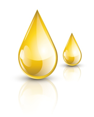 노란색 기름 방울 일러스트