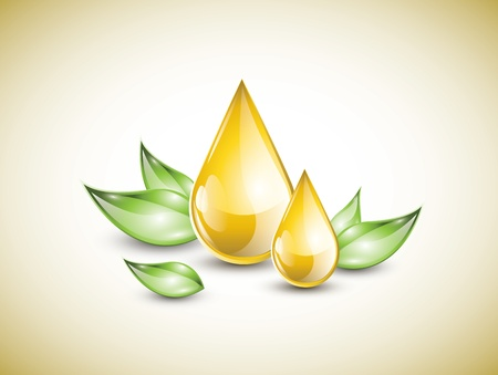 Gelbe Öltropfen Standard-Bild - 21399581