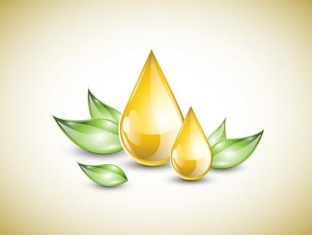 crème: Olio giallo scende Vettoriali