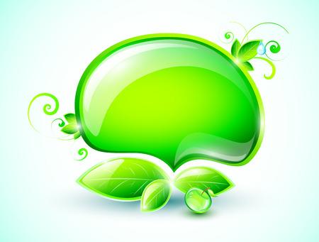 swirling: Green speech bubble