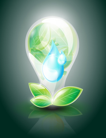 Eco lightbulb Vector