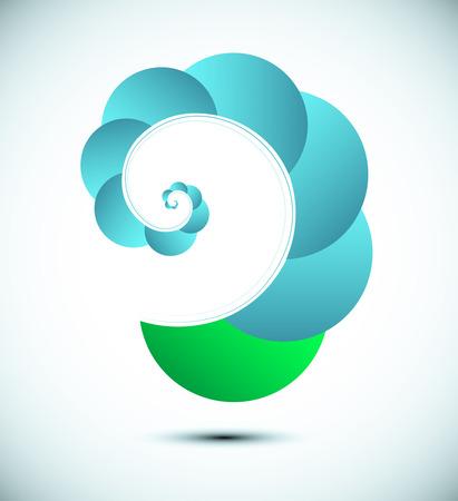 harmonious: Abstract spiral fractal