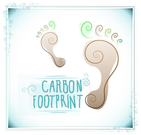 Floral carbon footprint Illustration