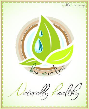 product healthy: Etichetta del prodotto naturalmente sano