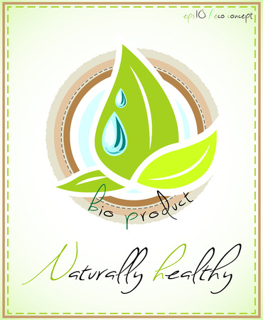 Naturally healthy product label