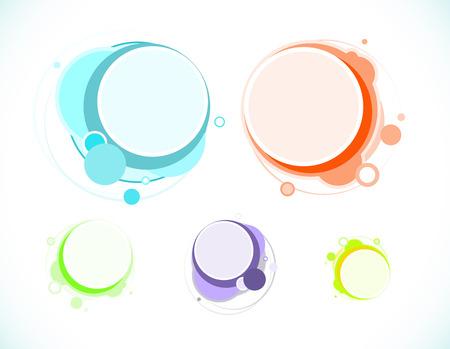 Speech bubbles, variations Illustration